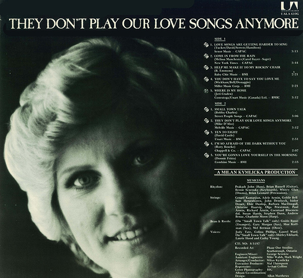 They Don't Play Our Love Songs Anymore Back Cover