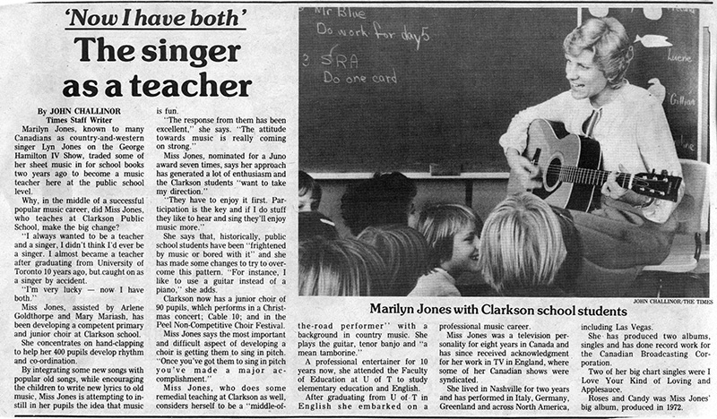 Singer As A Teacher